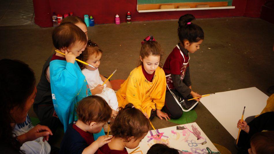 Pintar com Aquarela - Notícias de Turma Escola Grace
